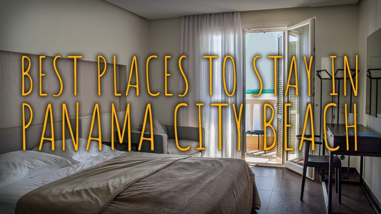"""Best Places to Stay in Panama City Beach"" over a hotel room"